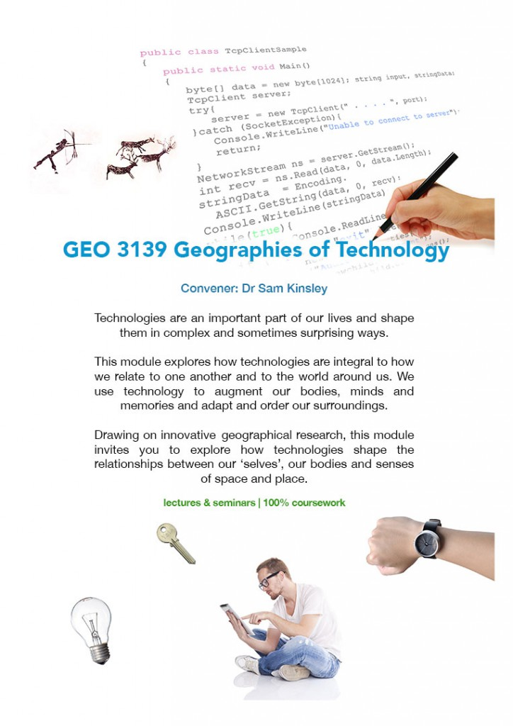 Geographies of Technology poster