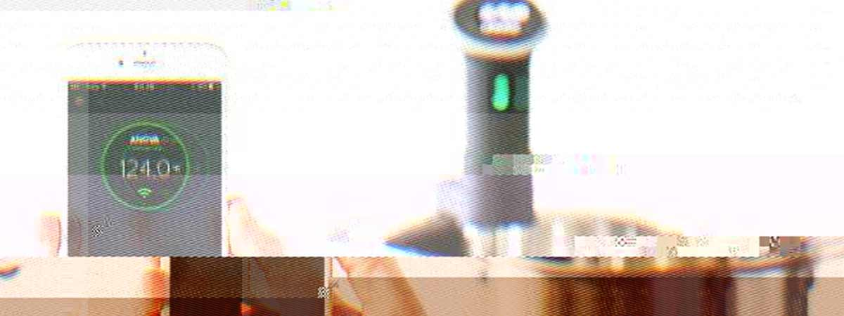 Glitched image of a sous-vide machine