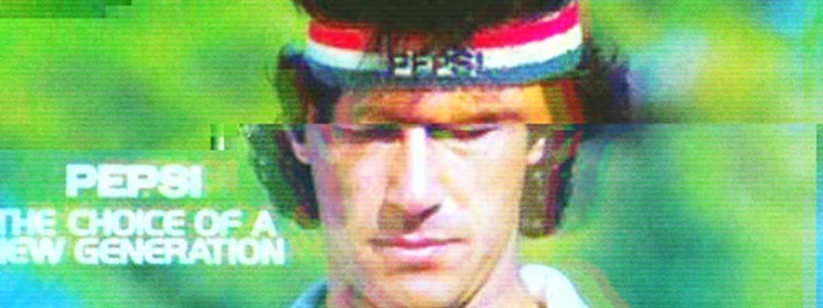 Glitched 1980s pepsi advert